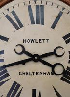 Rare 33 Inch Industrial Oak Wall Clock (4 of 10)