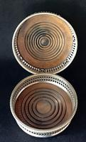 2  Silver Plated  Reticulated  Bottle Coasters (2 of 3)