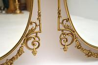 Pair of Antique French Style Brass Mirrors (8 of 12)