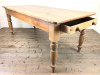Victorian Antique Pine Farmhouse Kitchen Table (2 of 10)