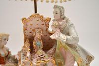Antique Italian Capodimonte Porcelain Table Lamp (6 of 11)