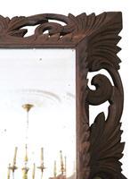 Florentine Carved Padauk Wall Mirror Overmantle c.1900 (5 of 6)