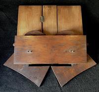 Arts & Crafts Oak Campaign Folding Book Stand (4 of 6)