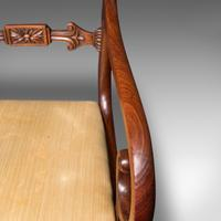 Antique Elbow Chair, English, Mahogany, Carver, Drop-in Seat, Regency c.1820 (9 of 12)
