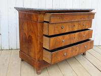 Antique Burr Walnut & Marble Top Chest Of Drawers (4 of 9)