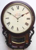 Rare Antique Drop Dial Wall Clock 8 Day Single Fusee Movement Signed J Cobb Liverpool