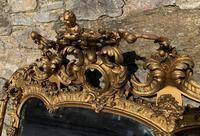Large Victorian Gilt Overmantel Mirror (13 of 20)