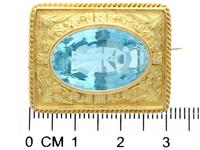 10.46ct Aquamarine & 18ct Yellow Gold Brooch - Antique c.1900 (4 of 9)
