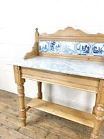 Antique Pine & Marble Washstand (4 of 10)