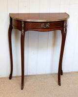 French Mahogany Demi Lune Table (7 of 10)