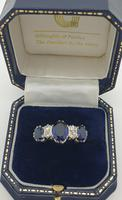 Sapphire & Diamond Rubover Ring (4 of 5)