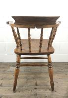 Antique Beech and Elm Smoker's Bow Armchair (10 of 16)
