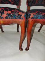 Pair of 18th Century Dutch Walnut Cabriole Leg Chairs (2 of 8)