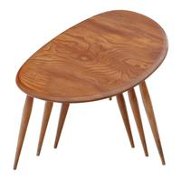Ercol Nest of 3 Tables Great Design Shape c.1970 (2 of 6)