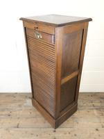 Antique Oak Tambour Filing Cabinet (3 of 9)