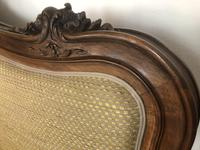 Antique French Bespoke Carved & Upholstered Extra Large Bed Frame (14 of 16)