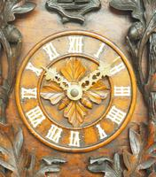 Antique Carved Early Cuckoo Clock Weight Driven Visible Pendulum (4 of 14)
