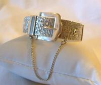 """Vintage Sterling Silver Bangle 1978 Large Buckle Bracelet 7"""" Length 28.5 Grams (4 of 11)"""