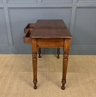 Victorian Mahogany 2 Drawer Side Table (4 of 12)