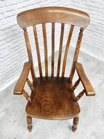 Large Windsor Lathback 'Grandfather' Armchair (4 of 5)