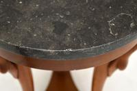 Neoclassical Style Walnut Marble Top Side Table (7 of 8)