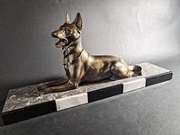 Art Deco Metal Dog Sculpture (2 of 7)