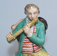 Enoch Wood - Rare Staffordshire Figure of a Flutist c.1810 (8 of 9)