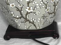Pair Chinese Cantonese Porcelain Table Lamps With Shades Lighting Christmas Gift (14 of 51)