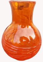 An Orange Strap Vase by James Powell & Sons (5 of 5)