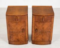 Pretty Pair of Walnut Art Deco Bedside Cabinets (6 of 7)
