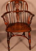 A Set of 4 Yew Tree Windsor Chairs Rockley Workshop (9 of 21)