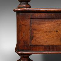 Antique Two Tier Side Table, Mahogany Whatnot, Regency Canterbury, Display Stand (12 of 12)