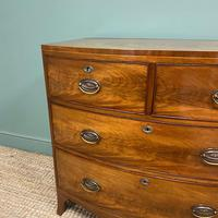 Small Bow Fronted Regency Antique Chest of Drawers (3 of 6)