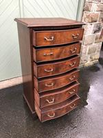 Antique Slim Mahogany Serpentine Chest of Drawers (2 of 8)