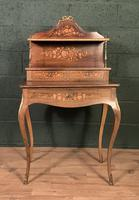 French Inlaid Rosewood Ladies Writing Table (2 of 8)