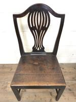Set of Four Welsh Oak Farmhouse Chairs (3 of 10)