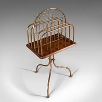Antique Newspaper Rack, French, Oak, Magazine, Music Stand, Victorian c.1900 (6 of 11)