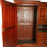 Marquetry Inlaid Wardrobe by Heal & Son (3 of 8)