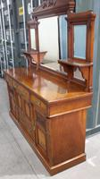 1910's Good Large Carved Oak Sideboard with Mirror Back (4 of 7)