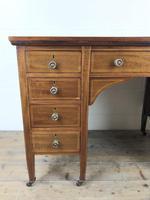 Antique Edwardian Inlaid Mahogany Desk (4 of 12)