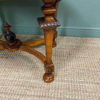 Magnificent Victorian Figured Walnut Antique Centre Table (4 of 9)