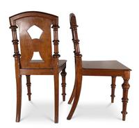 Pair of English Hall Chairs (6 of 6)