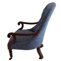 19th Century Buttoned Show Wood Chair (3 of 8)