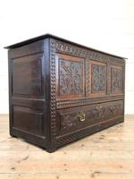 18th Century Carved Oak Mule Chest (12 of 13)