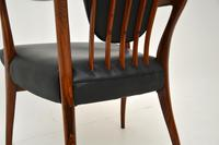 Rosewood & Leather Dining Table & Chairs by AJ Milne for Heals (22 of 22)