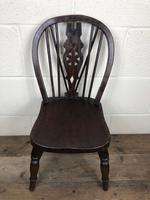 Antique Ash & Elm Child's Wheelback Chair (2 of 6)