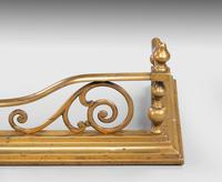Well Formed Late Victorian Brass Fender (3 of 6)