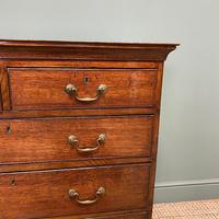 Period Oak Georgian Antique Chest of Drawers (5 of 6)