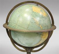 Globe Gilt Brass Figural on Marble Stand (3 of 3)