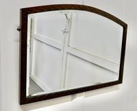 Carved Oak Arched Frame Mirror (4 of 4)